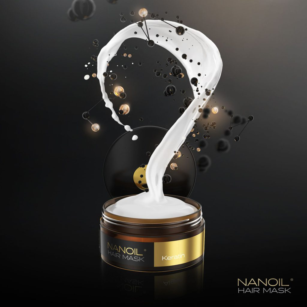 BEST-SELLER! Nanoil hair mask with keratin – the best way to get dream hair